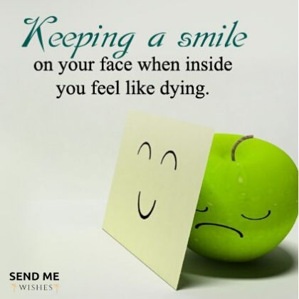 keeping a smile